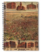 Map Of Los Angeles 1891 Spiral Notebook