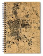 Map Of Madrid Spain Vintage Street Map Schematic Circa 1943 On Old Worn Parchment  Spiral Notebook