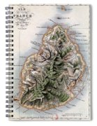 Map Of Mauritius Spiral Notebook