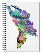 Map Of Moldova-colorful Spiral Notebook