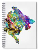 Map Of Montenegro-colorful Spiral Notebook