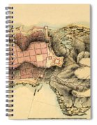 Map Of Montevideo 1808 Spiral Notebook