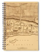 Map Of Montreal 1758 Spiral Notebook