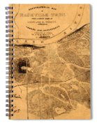 Map Of Nashville 1860 Spiral Notebook