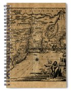 Map Of New York 1600 Spiral Notebook