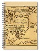 Map Of Newfoundland 1625 Spiral Notebook