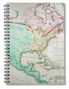 Map Of North America Spiral Notebook