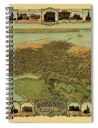 Map Of Oakland 1900 Spiral Notebook