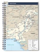 Map Of Pakistan Spiral Notebook