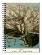 Map Of Panama Canal 1881 Spiral Notebook