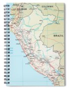Map Of Peru 2 Spiral Notebook