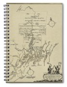 Map Of Plymouth Spiral Notebook