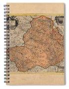 Map Of Rheims 1636 Spiral Notebook