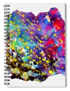 Map Of Romania-colorful Spiral Notebook