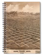 Map Of Salt Lake City 1875 Spiral Notebook