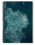 Map Of San Francisco 1857 Spiral Notebook