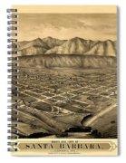 Map Of Santa Barbara 1877 Spiral Notebook