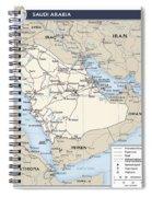 Map Of Saudi Arabia 2 Spiral Notebook