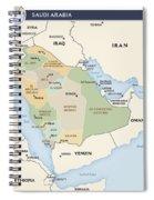 Map Of Saudi Arabia Spiral Notebook