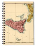 Map Of Sicily 1875 Spiral Notebook