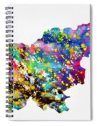 Map Of Slovenia-colorful Spiral Notebook