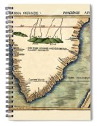 Map Of South Africa 1513 Spiral Notebook
