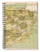 Map Of Spain Spiral Notebook