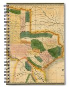 Map Of Texas 1834 Spiral Notebook