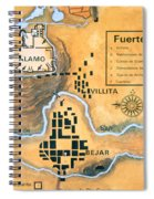 Map Of The Alamo Area In San Antonio Spiral Notebook