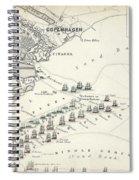 Map Of The Battle Of Copenhagen Spiral Notebook