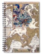 Map Of The Christmas Flood Of 1717 Spiral Notebook