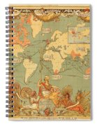 Map Of The Extent Of The British Empire 1886  Spiral Notebook