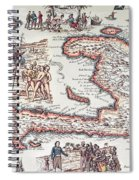 Map Of The Island Of Haiti Spiral Notebook