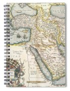 Map Of The Middle East From The Sixteenth Century Spiral Notebook