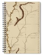 Map Of The Mississippi Riverr 1775 Spiral Notebook