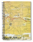 Map Of The Old Oregon Trail Spiral Notebook