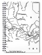 Map Of The Trans-siberian Railway Spiral Notebook