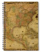 Map Of The United States 1849 Spiral Notebook