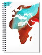 Map Of The World 4 -colorful Abstract Art Spiral Notebook