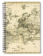Map Of The World Using The Mercator Projection Spiral Notebook