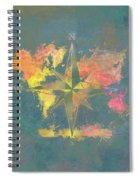Map Of The World Wind Rose 2 Spiral Notebook