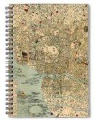 Map Of Tokyo 1854 Spiral Notebook