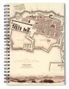 Map Of Toulon 1840 Spiral Notebook