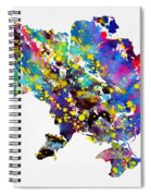 Map Of Ukraine-colorful Spiral Notebook