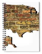 Map Of Usa And Wall. Spiral Notebook