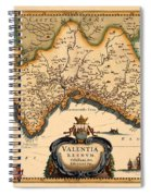Map Of Valencia 1634 Spiral Notebook