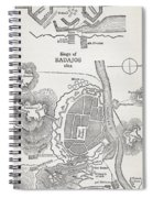 Map Showing The Site Of The Siege Of Spiral Notebook