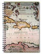 Map: West Indies Spiral Notebook