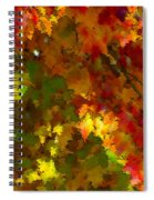 Maple Abstract Spiral Notebook