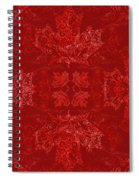 Maple Leaf Filigree Tiled Pattern Spiral Notebook